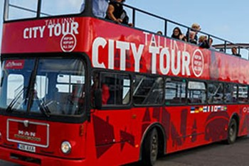 Red Sightseeing bus