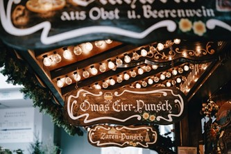 Christmas Market stall signs Berlin